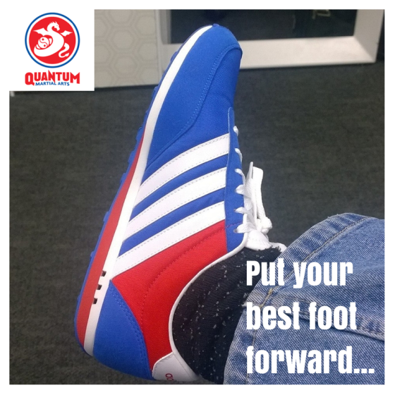 Put your best foot forward
