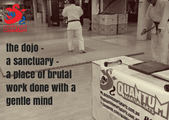 the dojo - a sanctuary - a place of