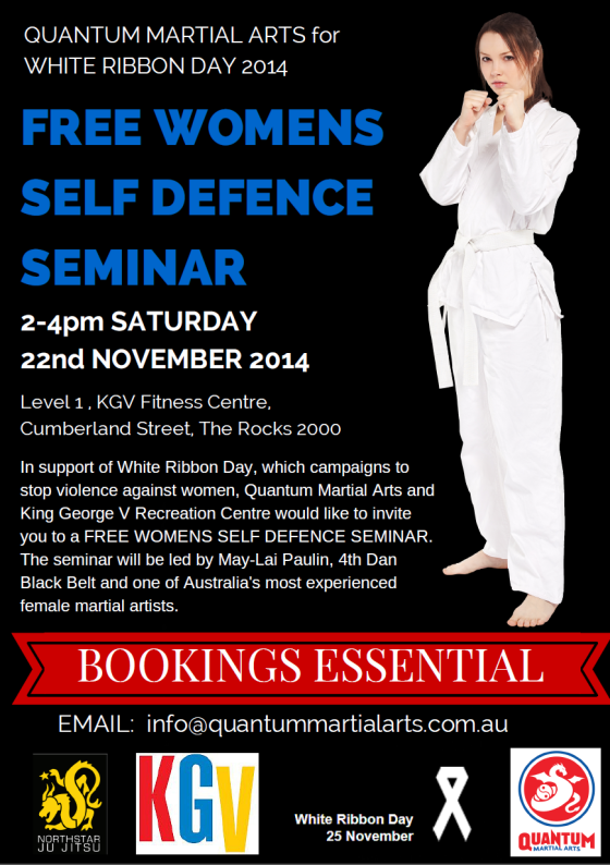 Women's Self Defence Seminar