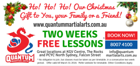 2015 Christmas QMA Offer - Front